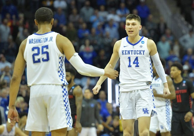 Kentucky Wildcats Vs Auburn Basketball 2019 Start Time: 3/31/19 NCAA Tournament Elite Eight