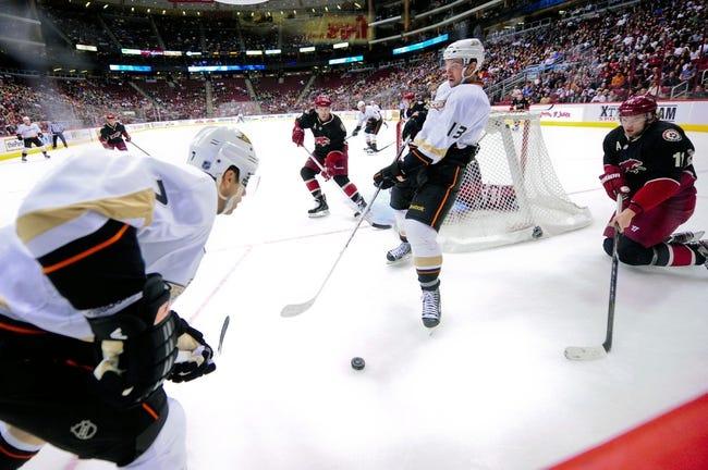 NHL | Arizona Coyotes (5-6-1) at Anaheim Ducks (10-3-1)