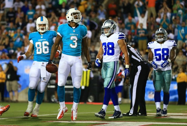 Dallas Cowboys at Miami Dolphins - 8/23/14 Pick and Odds