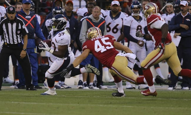 San Francisco 49ers vs. Denver Broncos 8/17/14 NFL Preseason Week 2 Pick, Odds, Prediction