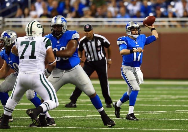 New York Jets vs. Detroit Lions - 9/28/14 NFL Pick and Odds