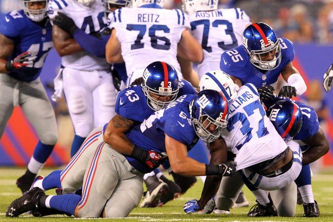 Indianapolis Colts vs. New York Giants NFL Preseason Pick, Odds, Prediction 8/16/14