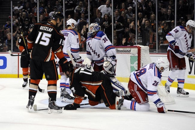 Anaheim Ducks vs. New York Rangers - 1/7/15 NHL Pick, Odds, and Prediction