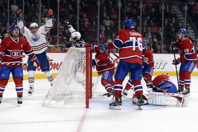 Edmonton Oilers vs. Montreal Canadiens - 10/27/14 NHL Pick, Odds, and Prediction