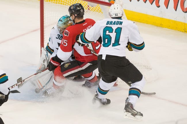 NHL | Ottawa Senators (26-23-10) at San Jose Sharks (30-24-8)