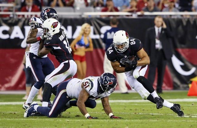 Houston Texans at Arizona Cardinals NFL Pick, Odds, Prediction - 8/9/14