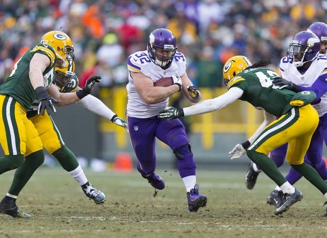 Packers vs. Vikings - 10/2/14 Free NFL Pick, Odds, Prediction