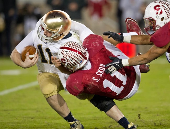 Notre Dame Fighting Irish vs. Stanford Cardinal Pick-Odds-Prediction - 10/4/14