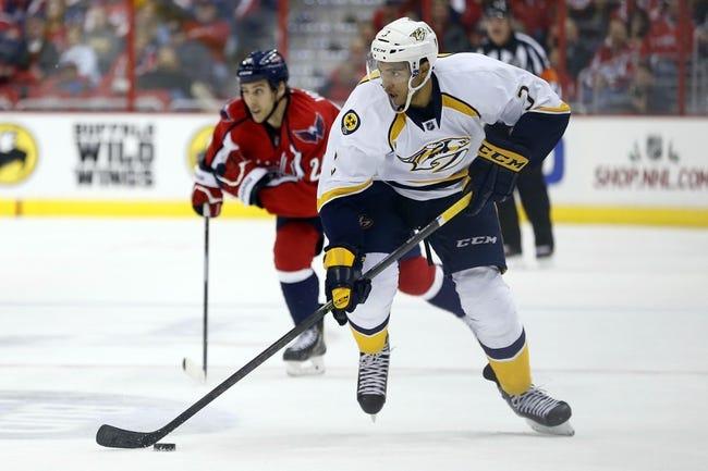 Nashville Predators vs. Washington Capitals - 1/16/15 NHL Pick, Odds, and Prediction