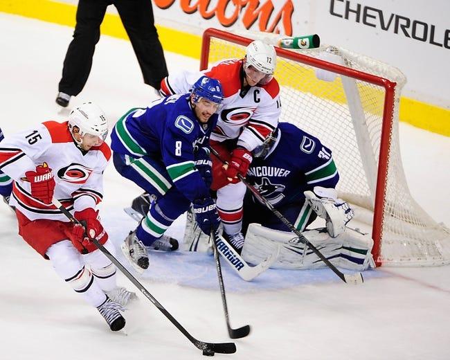 Vancouver Canucks vs. Carolina Hurricanes - 10/28/14 NHL Pick, Odds, and Prediction