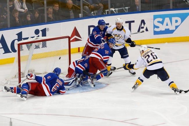Predators vs. Rangers - 2/7/15 NHL Pick, Odds, and Prediction