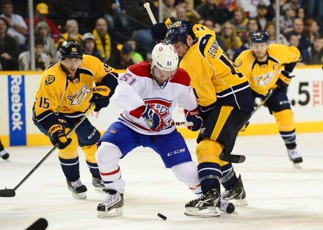 Canadiens vs. Predators - 1/20/15 NHL Pick, Odds, and Prediction