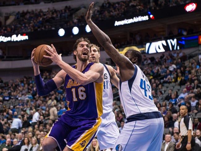 Los Angeles Lakers vs. Dallas Mavericks - 4/4/14