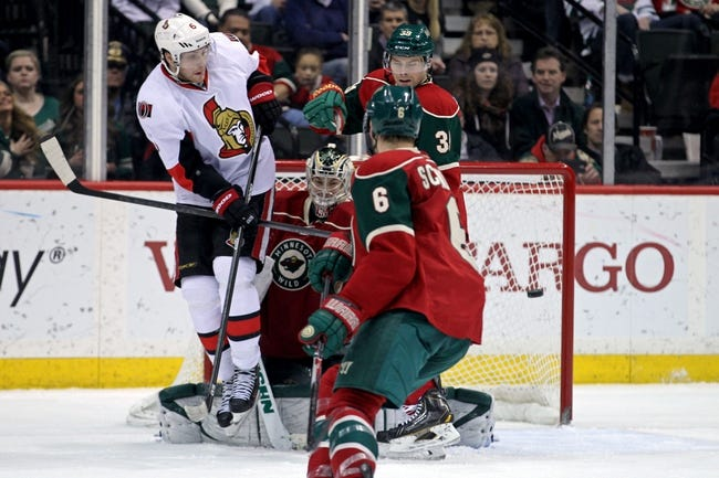 Ottawa Senators vs. Minnesota Wild - 11/6/14 NHL Pick, Odds, and Prediction