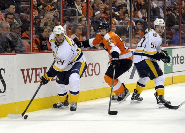 Predators vs. Flyers - 12/27/14 NHL Pick, Odds, and Prediction