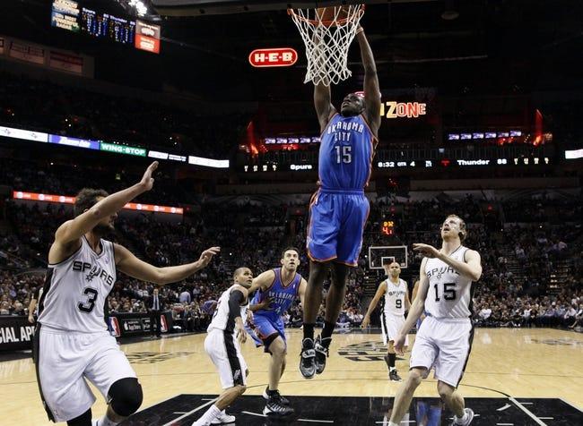 San Antonio Spurs at Oklahoma City Thunder - 4/3/14