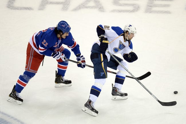 St. Louis Blues vs. New York Rangers - 10/9/14 NHL Pick, Odds, Prediction
