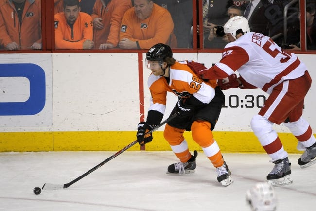 Flyers vs. Red Wings - 10/25/14 NHL Pick, Odds, Prediction