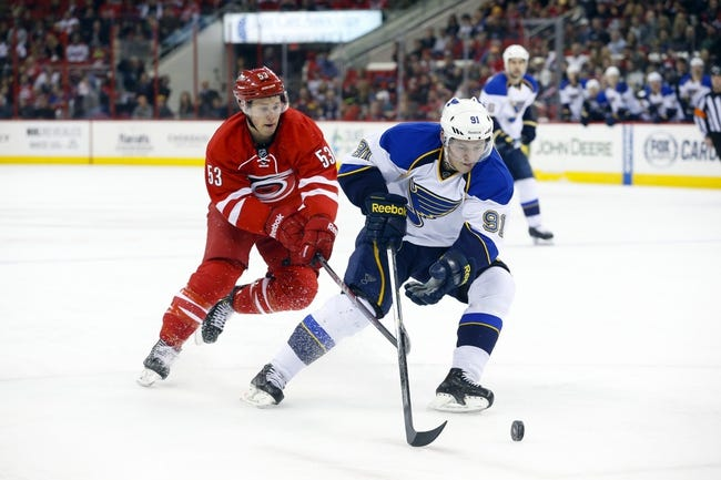 St. Louis Blues vs. Carolina Hurricanes - 1/10/15 NHL Pick, Odds, and Prediction