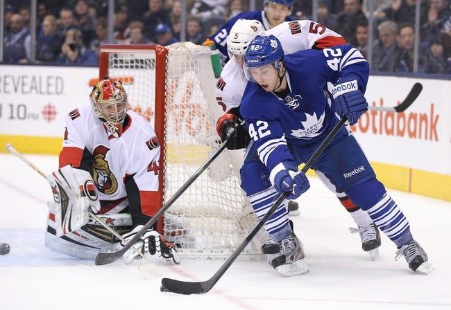 Ottawa Senators vs. Toronto Maple Leafs - 4/12/14