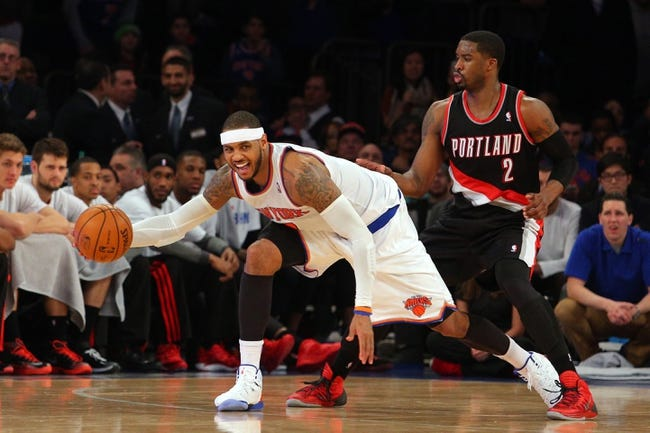 New York Knicks vs. Portland Trail Blazers - 12/7/14 NBA Pick, Odds, and Prediction