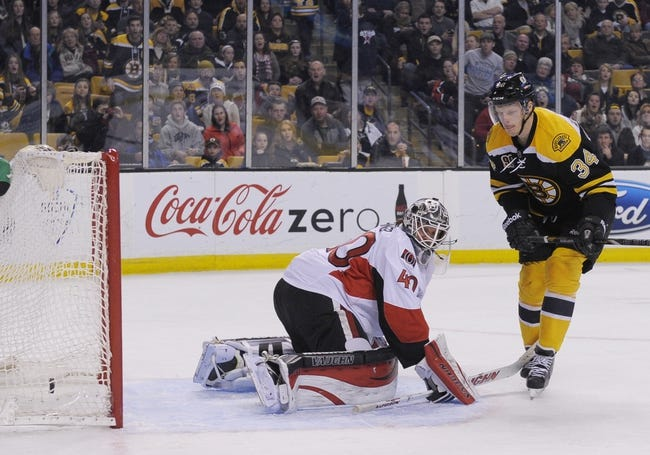 Boston Bruins vs. Ottawa Senators - 11/1/14 NHL Pick, Odds, and Prediction