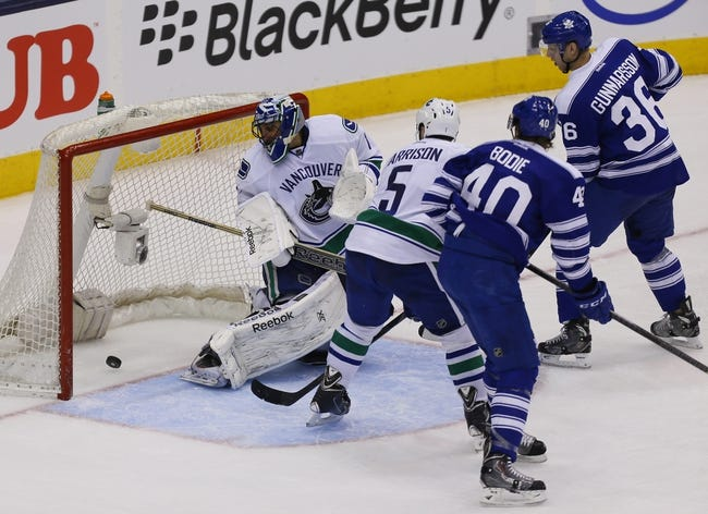 Maple Leafs vs. Canucks - 12/6/14 NHL Pick, Odds, and Prediction