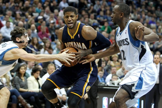Minnesota Timberwolves vs. Indiana Pacers 10/21/14 NBA Preseason Pick, Odds, Prediction