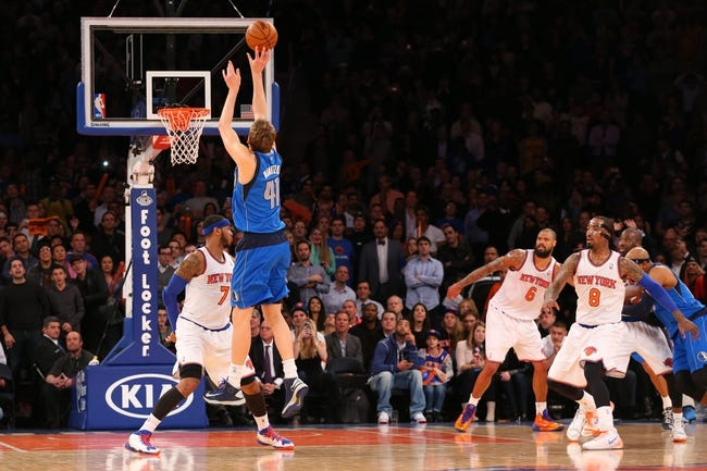 Mavericks vs. Knicks - 11/26/14 NBA Pick, Odds, and Prediction