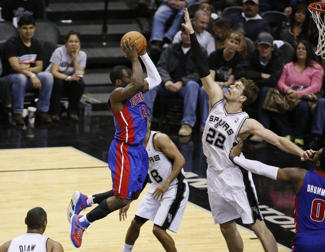 Spurs vs. Pistons - 1/6/15 NBA Pick, Odds, and Prediction