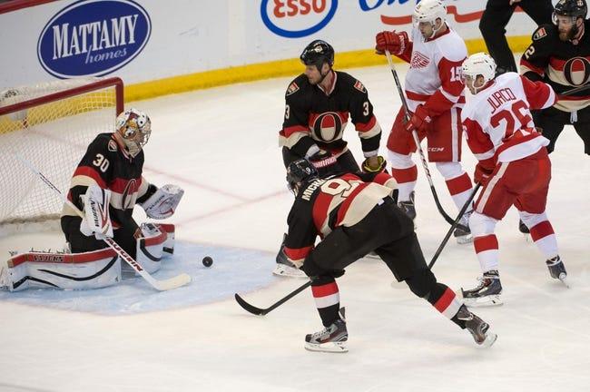 Ottawa Senators vs. Detroit Red Wings - 11/4/14 NHL Pick, Odds, and Prediction