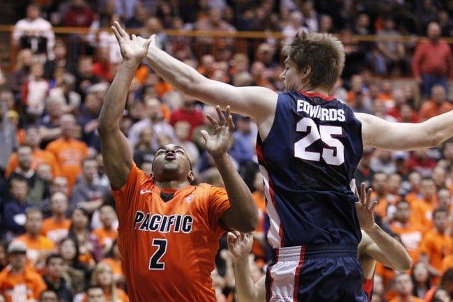 Pacific vs. Santa Clara - 12/29/14 College Basketball Pick, Odds, and Prediction