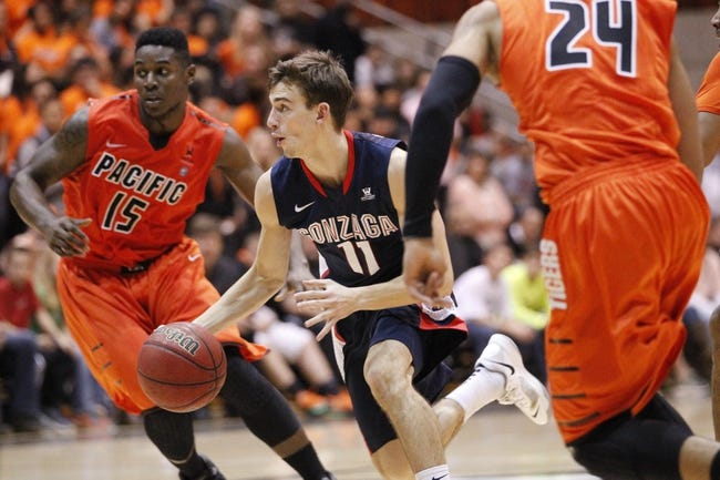 Gonzaga vs. Pacific - 1/24/15 College Basketball Pick, Odds, and Prediction