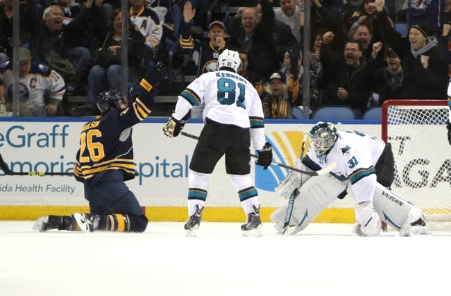 Sharks vs. Sabres - 10/25/14 NHL Pick, Odds, Prediction