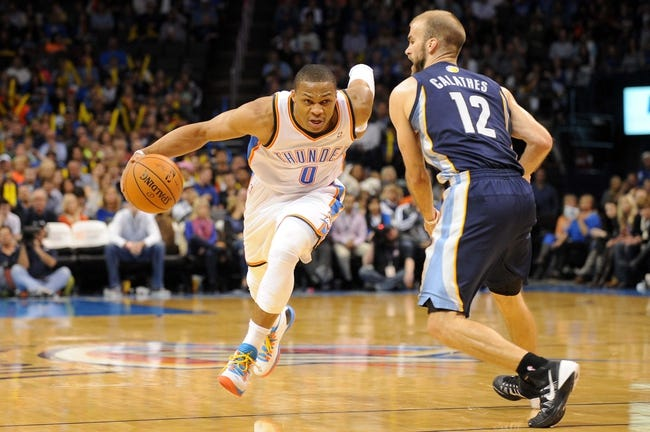 Memphis Grizzlies at Oklahoma City Thunder - 4/19/14 Game One