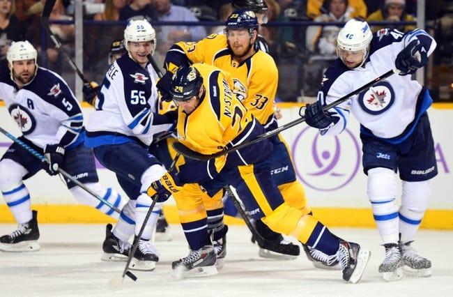 Winnipeg Jets vs. Nashville Predators - 10/17/14 NHL Pick, Odds, Prediction