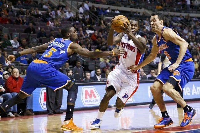 Detroit Pistons vs. New York Knicks - 11/5/14 NBA Pick, Odds, and Prediction