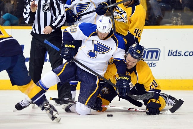 St. Louis Blues vs. Nashville Predators - 11/13/14 NHL Pick, Odds, and Prediction