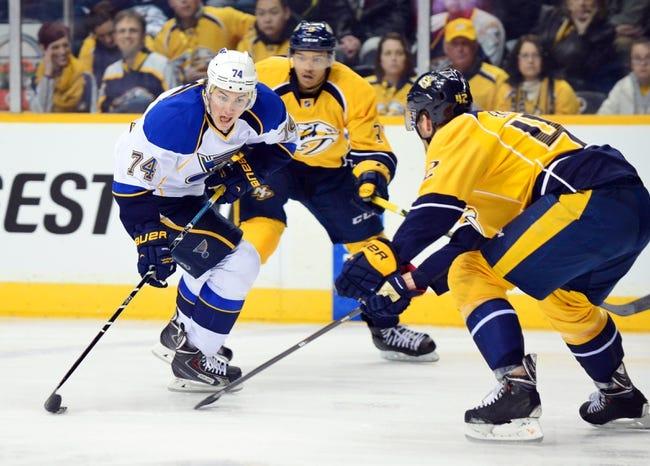 Blues vs. Predators - 11/8/14 NHL Pick, Odds, and Prediction