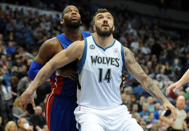 Minnesota Timberwolves vs. Detroit Pistons Free Pick, Odds, Prediction 10/30/14 NBA Pick, Odds, and Prediction