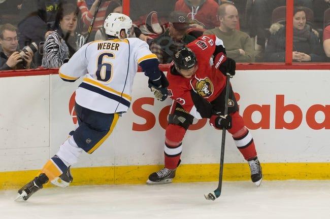 Nashville Predators vs. Ottawa Senators - 10/9/14