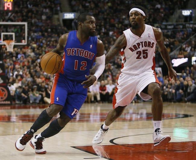 Detroit Pistons vs. Toronto Raptors - 4/13/14