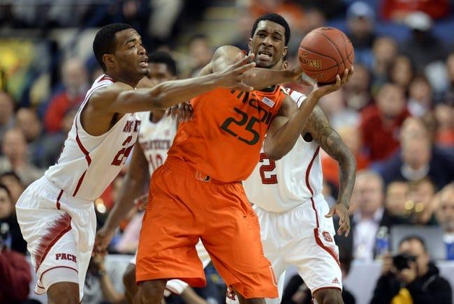Miami vs. North Carolina State - 1/22/15 College Basketball Pick, Odds, and Prediction