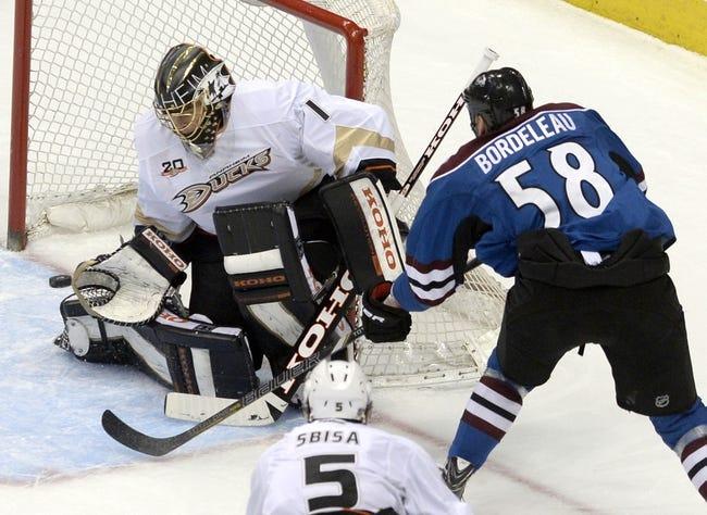 Anaheim Ducks vs. Colorado Avalanche - 4/13/14