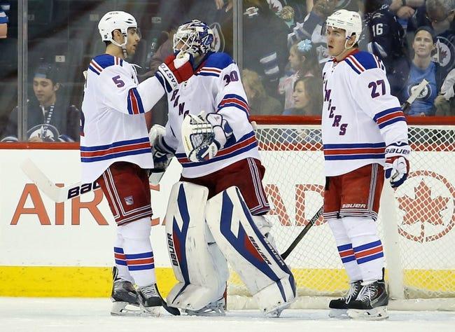 New York Rangers vs. Winnipeg Jets - 11/1/14 NHL Pick, Odds, and Prediction
