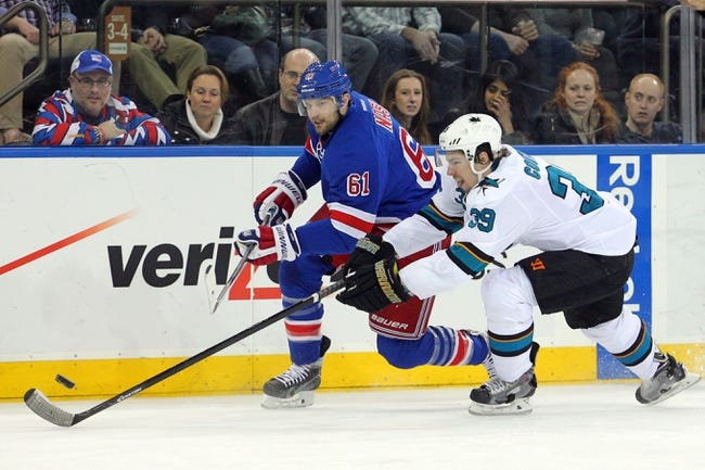 New York Rangers vs. San Jose Sharks - 10/19/14