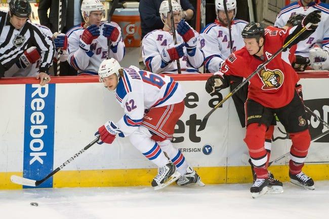 New York Rangers vs. Ottawa Senators - 4/5/14
