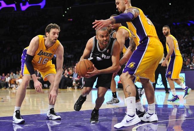 San Antonio Spurs vs. Los Angeles Lakers - 4/16/14