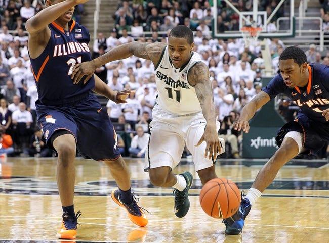 Michigan State vs. Illinois - 2/7/15 College Basketball Pick, Odds, and Prediction