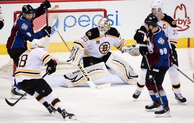 Boston Bruins vs. Colorado Avalanche - 10/13/14